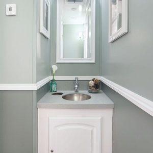 interior shot of resroom sink