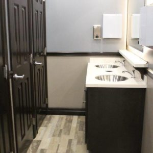 interipr of restroom showing sink and countertops