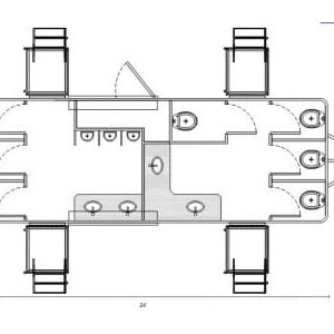 Line drawing of model