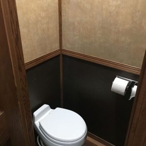 interior restroom trailer