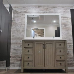 interior restroom with wood interior finishes