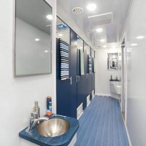 Modern shower interior