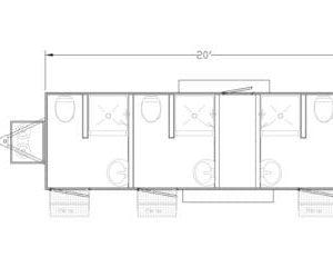 combo restroom trailer