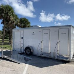 ADA accessible restroom trailer