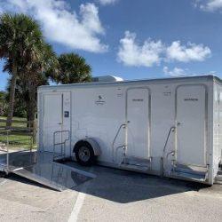 ADA accessible restroom trailer