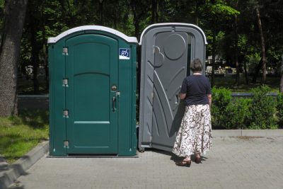 public porta potties