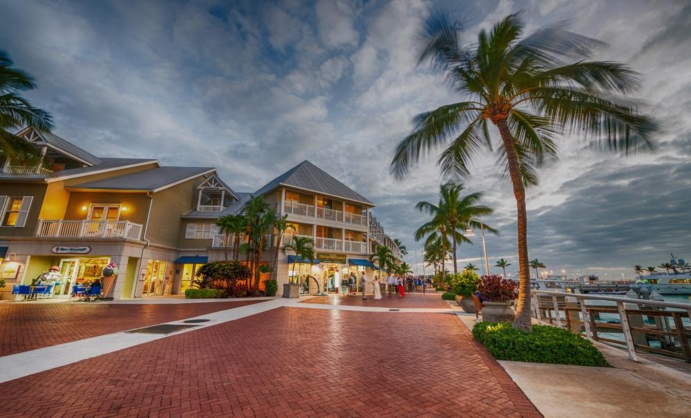 Mallory Square at dusk, Key West.